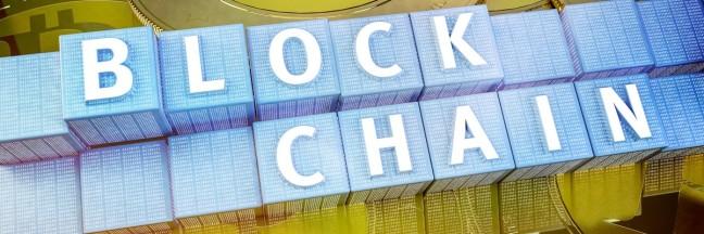 Blockchain Daten verschlsselungs technologie Konzept fr Online Banking Transaktionen
