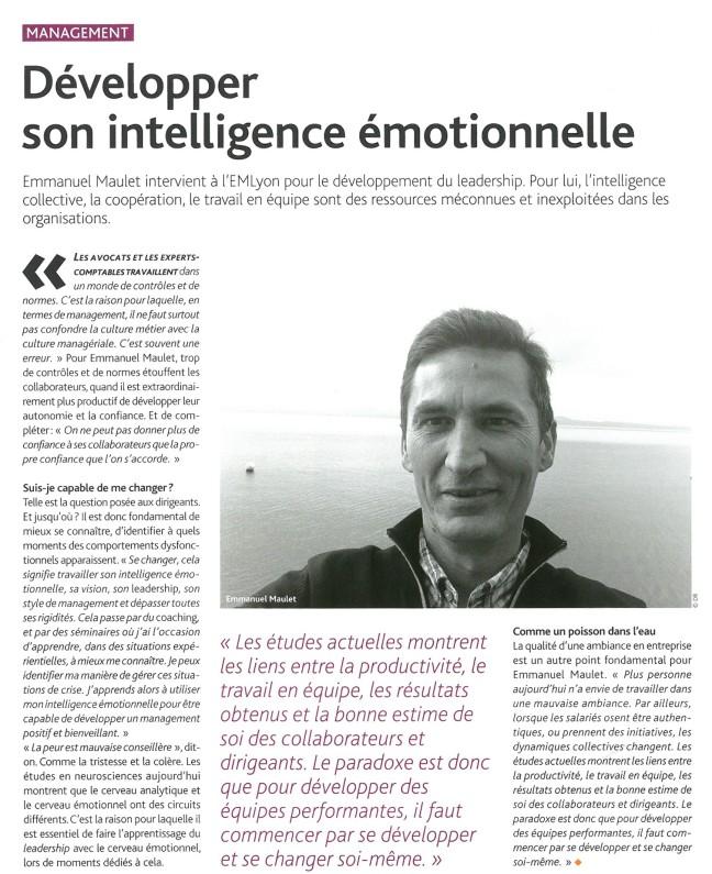 Parole d'experts - 3e trismestre 2017 - Développer son intelligence émotionnelle